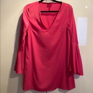 Pink bell sleeve topshop dress size 6